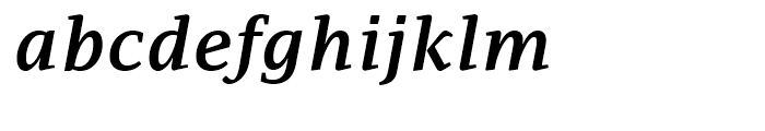PF Adamant SemiBold Italic Font LOWERCASE