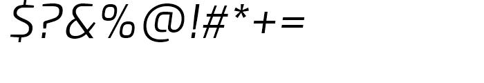 PF Benchmark Light Italic Font OTHER CHARS