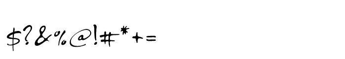 PF DaVinci Script Regular Font OTHER CHARS