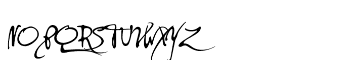 PF DaVinci Script Regular Font UPPERCASE
