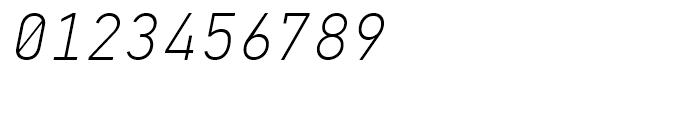 PF Din Mono Thin Italic Font OTHER CHARS