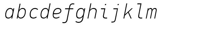 PF Din Mono Thin Italic Font LOWERCASE