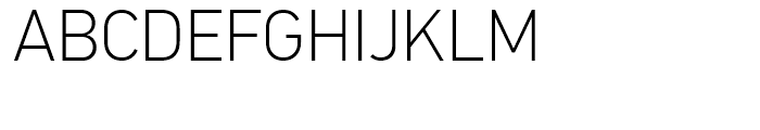 PF Din Text Thin Font UPPERCASE