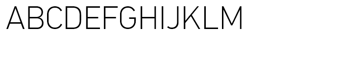 PF Din Text Universal Thin Font UPPERCASE