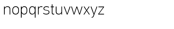 PF Din Text Universal Thin Font LOWERCASE