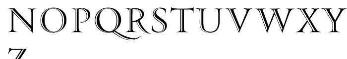 PF Monumenta Shaded Font UPPERCASE