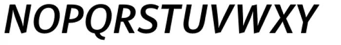PF Adamant Sans Pro SemiBold Italic Font UPPERCASE