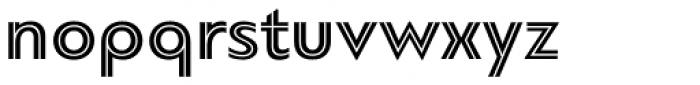 PF Bague Inline Pro Bold Font LOWERCASE
