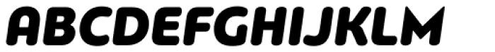 PF Bague Round Pro Black Italic Font UPPERCASE