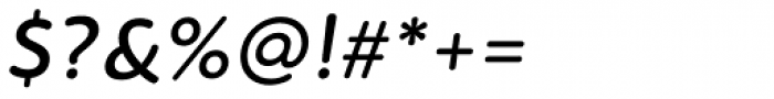 PF Bague Round Pro Medium Italic Font OTHER CHARS