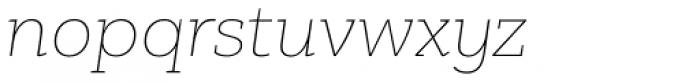 PF Bague Slab Pro Extra Thin Italic Font LOWERCASE