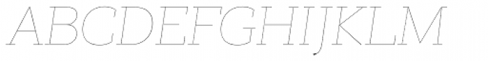 PF Bague Slab Pro Hairline Italic Font UPPERCASE
