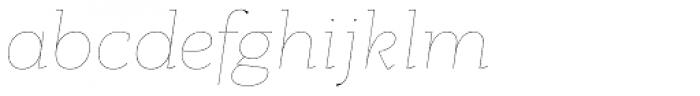 PF Bague Slab Pro Hairline Italic Font LOWERCASE