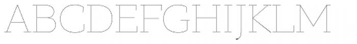 PF Bague Slab Pro Hairline Font UPPERCASE