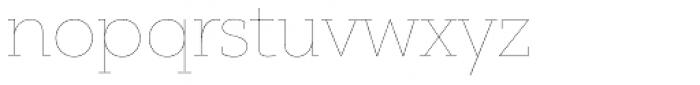 PF Bague Slab Pro Hairline Font LOWERCASE