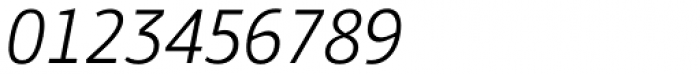 PF Bulletin Sans Pro Light Italic Font OTHER CHARS