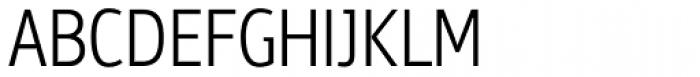 PF Bulletin Sans Pro Light Font UPPERCASE