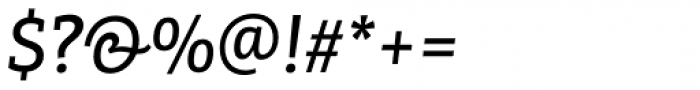 PF Centro Slab Press Medium Italic Font OTHER CHARS