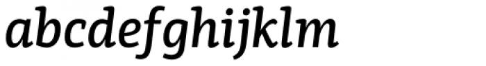 PF Centro Slab Press Medium Italic Font LOWERCASE