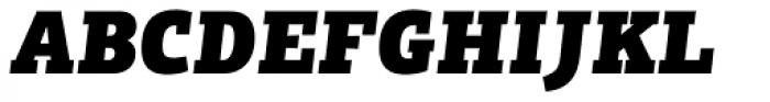 PF Centro Slab Press UBlack Italic Font UPPERCASE