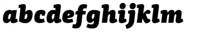 PF Centro Slab Press UBlack Italic Font LOWERCASE