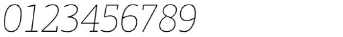 PF Centro Slab Press XThin Italic Font OTHER CHARS