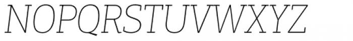 PF Centro Slab Press XThin Italic Font UPPERCASE