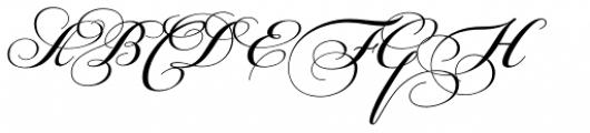 PF Champion Script Pro Bold Font UPPERCASE