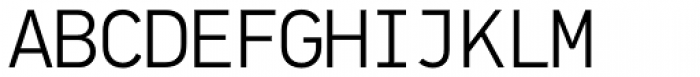 PF DIN Mono Light Font UPPERCASE