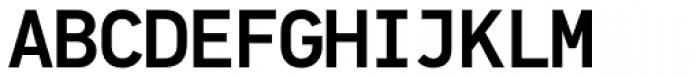 PF DIN Mono Medium Font UPPERCASE