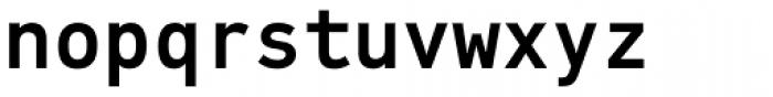 PF DIN Mono Medium Font LOWERCASE