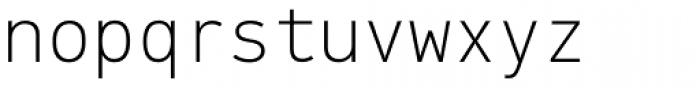 PF DIN Mono Thin Font LOWERCASE