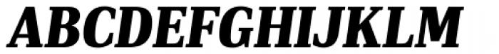 PF DIN Serif Black Italic Font UPPERCASE