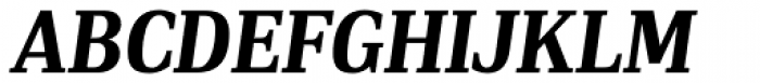 PF DIN Serif Bold Italic Font UPPERCASE