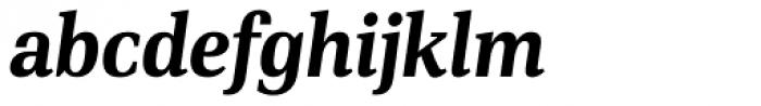 PF DIN Serif Bold Italic Font LOWERCASE
