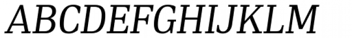 PF DIN Serif Italic Font UPPERCASE
