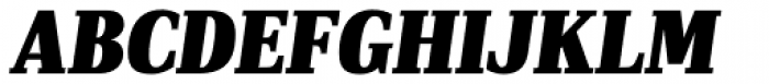 PF DIN Serif XBlack Italic Font UPPERCASE
