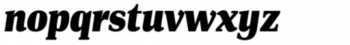 PF DIN Serif XBlack Italic Font LOWERCASE