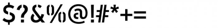 PF DIN Stencil B Medium Font OTHER CHARS