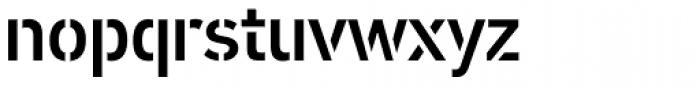 PF DIN Stencil B Medium Font LOWERCASE