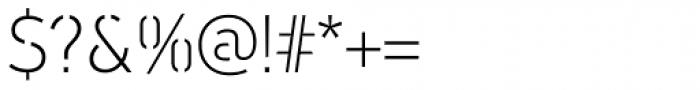 PF DIN Stencil B Thin Font OTHER CHARS