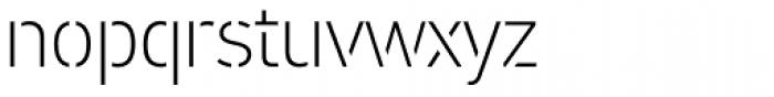 PF DIN Stencil B Thin Font LOWERCASE
