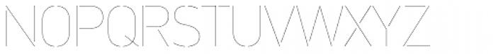 PF DIN Stencil Pro Hairline Font UPPERCASE