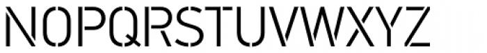 PF DIN Stencil Pro Light Font UPPERCASE
