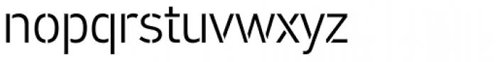 PF DIN Stencil Pro Light Font LOWERCASE