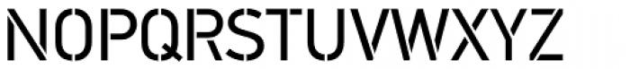 PF DIN Stencil Pro Regular Font UPPERCASE