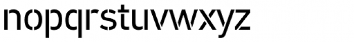PF DIN Stencil Pro Regular Font LOWERCASE