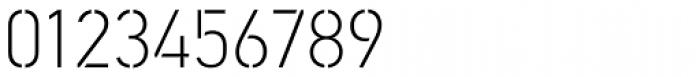 PF DIN Stencil Pro Thin Font OTHER CHARS