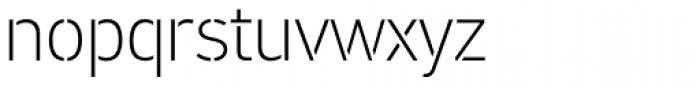 PF DIN Stencil Pro Thin Font LOWERCASE