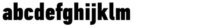 PF DIN Text Comp Pro Black Font LOWERCASE